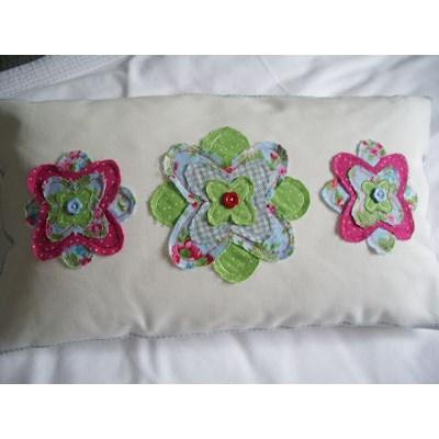 Maggie Raggedy Flowers Applique Cushion