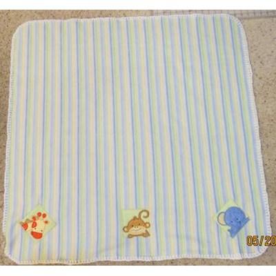 Colleen Monkey Friends Applique Blocks Blanket