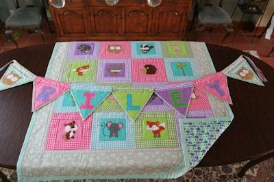 Kathy Forest Animals Applique Quilt