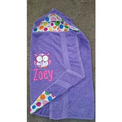Lisas Forest Animal Applique Hooded Towel