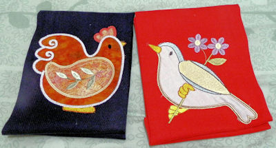 Barbara Spring Splendour Applique Tea Towels