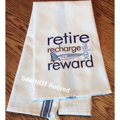 Jeannine Retirement Sentiments Tea Towels