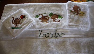 Kathryn Monkeying Around Towel Set