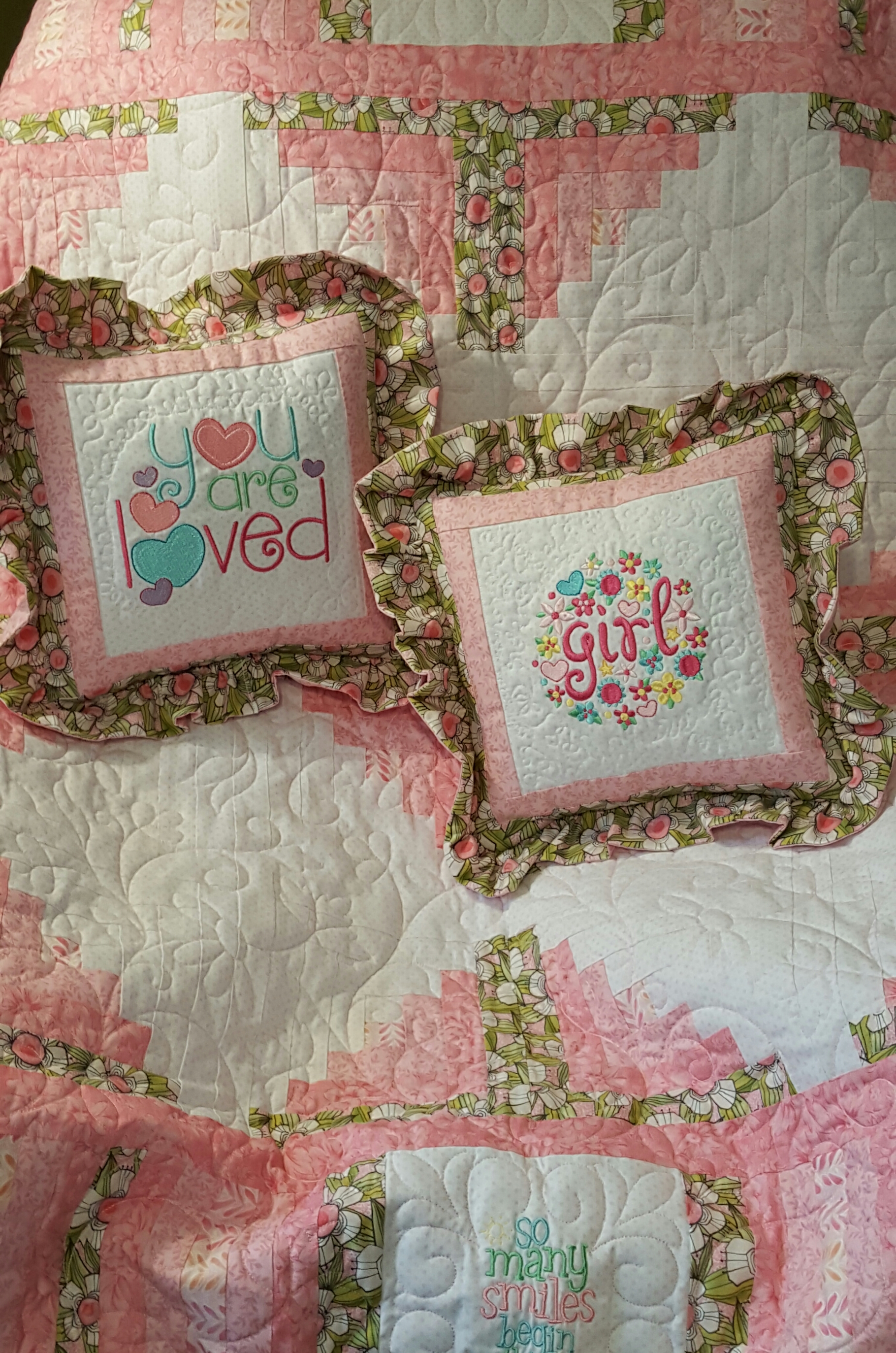 Barbara Baby Girl Sentiments Quilt JUN 16