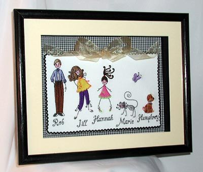 Jills The Stxy Family Shadow Box
