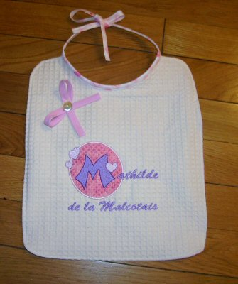 Celines Button Applique Bib