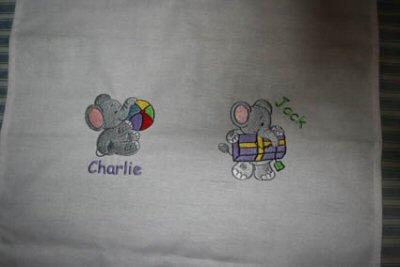 Kerrys Little Nellie and Little Jumbo Tea Towel