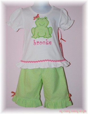 Paiges Little Stitchies Applique Outfit