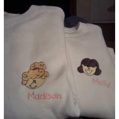 Danielles Little Faces Sweatshirts