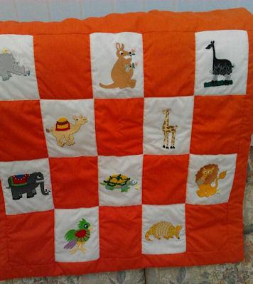 Margarets Larrys Zoo quilt