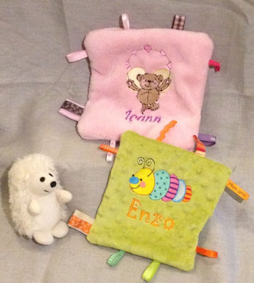 Celine Doodle Bugs and Beary Flutters Snuggle Blankies