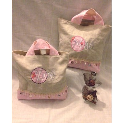 Celine Button Applique Alphabet Bags