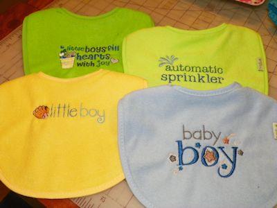 Kelly Baby Boy Sentiments Bibs Mar16