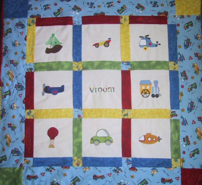 Things That Go Vroom Quilt
