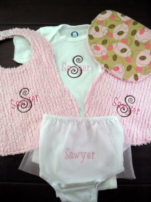 Angies Frivolity and Love Letters Baby Set