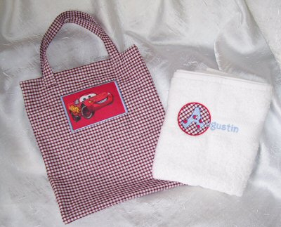 Celines Childrens Bag and Towel