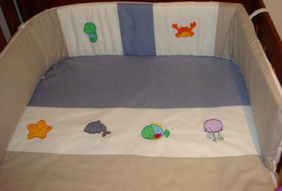 Karens Sea Creatures Applique Nursery Set