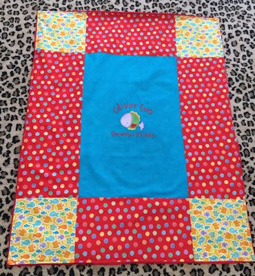Amy Sea Creatures Baby Blanket May 16
