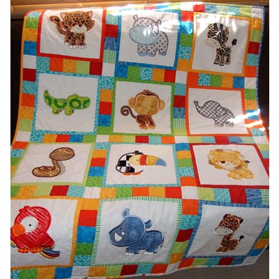 Lindy Lou Kidsworld Might Jungle Animals Quilt May 17