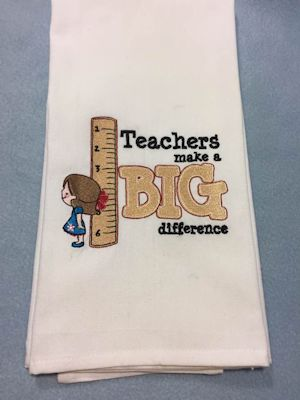 Janets Dear Teacher Kitchen Towels