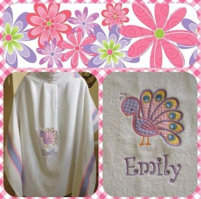 Judy Tweet Thing Applique Hooded Towel May 17
