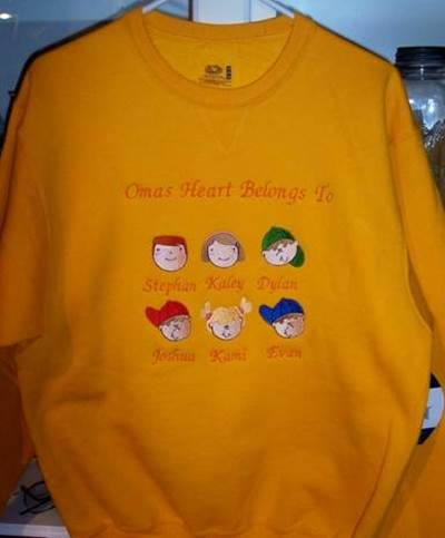 Donnas Little Faces and Happy Face Sweatshirt