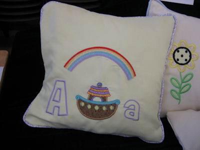 Margarets Noahs Ark Applique Pillow