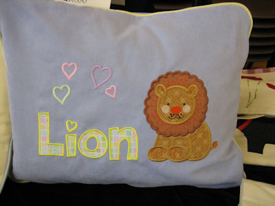 Margarets Noahs Ark Applique Pillow