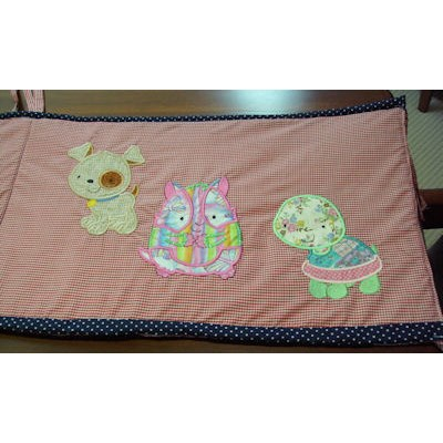 Alex My Pet Applique Cot Bumper