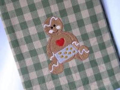 Karens Gingerbreads Hugs Tea Towels