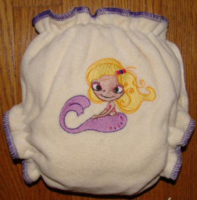 Mermaids Fitted Nappy 2