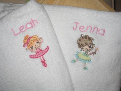 Carolines Ballet Cuties Towels