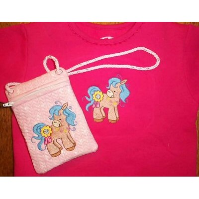 Cindys Pretty Ponies Purse and Tee