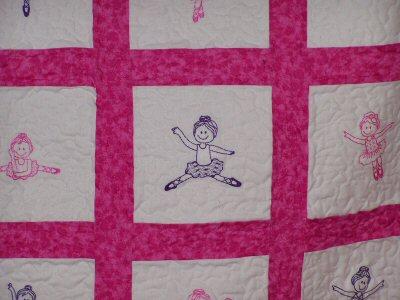 Dees Ballet Redwork Quilt