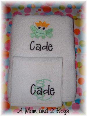 A Mom and 2 Boys My Princess Towel Set