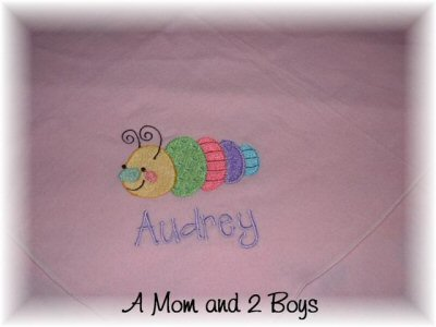 A Mom and 2 Boys Doodle Bugs Blanket