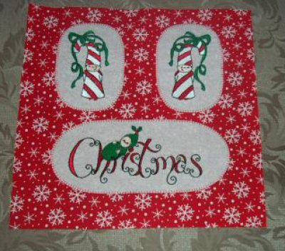 Jeanettas Bubba Boo In Xmas Quilt Block