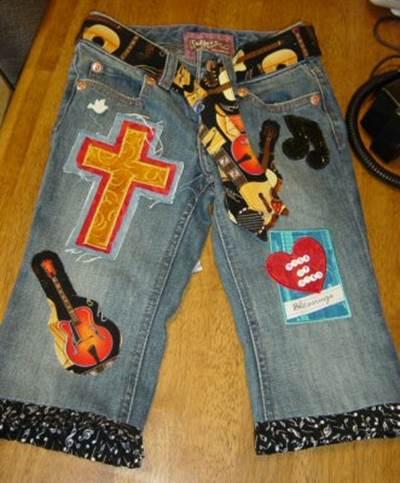 Boutique Belles Applique Shapes Jeans