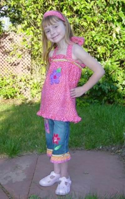 Boutique Belles Applique Girls Outfit