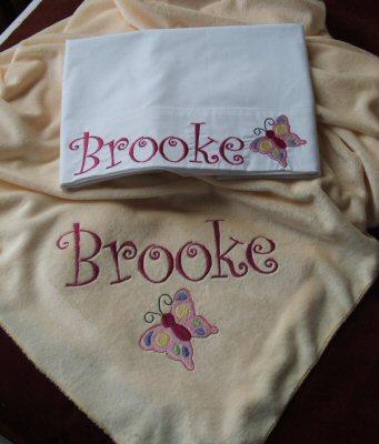 Stacies All Girl Minky Blanket Set