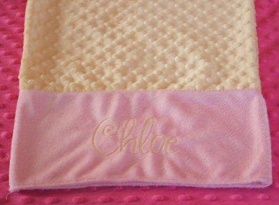 Stacies Frivolity Minky Pillow Case