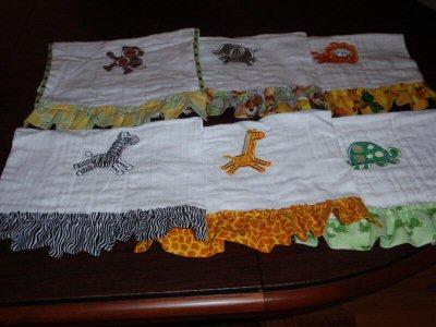 Sonjas Jungle Daze Burp Towels