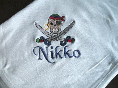Tammys Pirates Ahoy Receiving Blanket