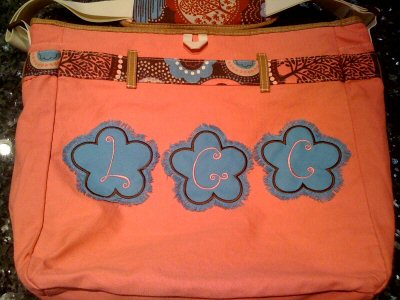 Applique Shapes School Bag