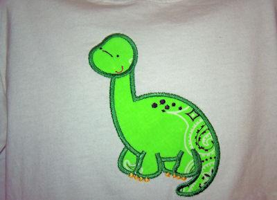 Kimra Dinomite Applique Shirt
