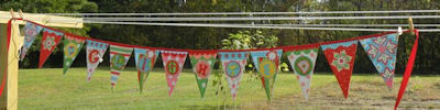 Stephanies Button Applique Bunting