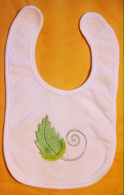 Enis Swirly Pumpkin Bib