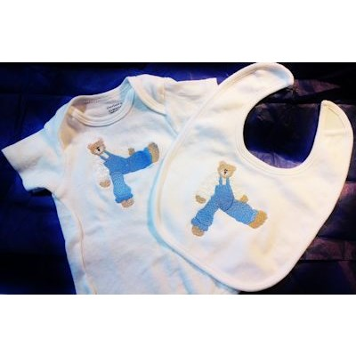 Enis Bearly Special Too Bib and Onsie