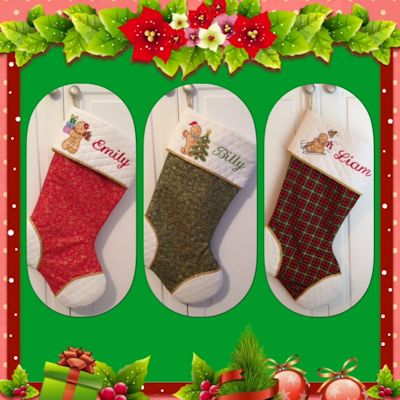 Judy Gingerbreads Applique Stockings
