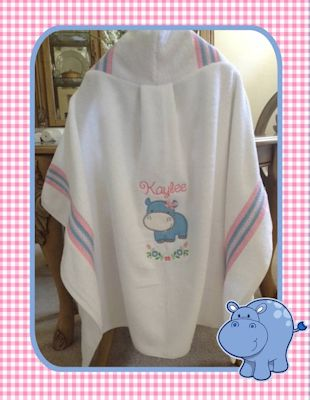 Judy Mighty Jungle Animals Applique Hooded Towel